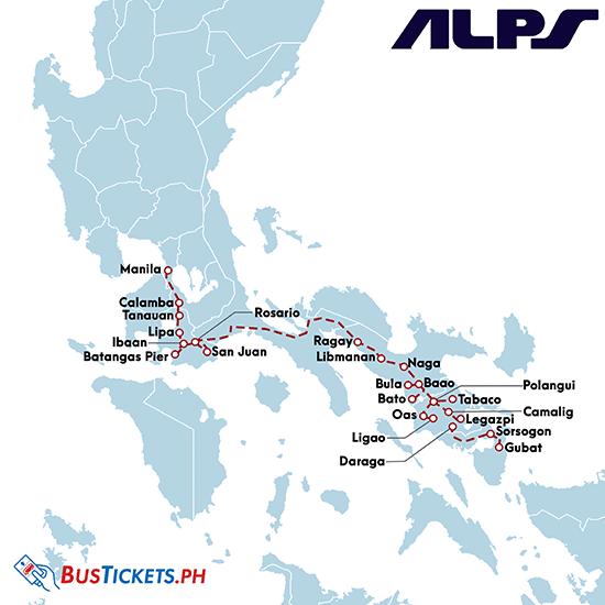 Alps Bus Online Booking, Schedules, and Routes