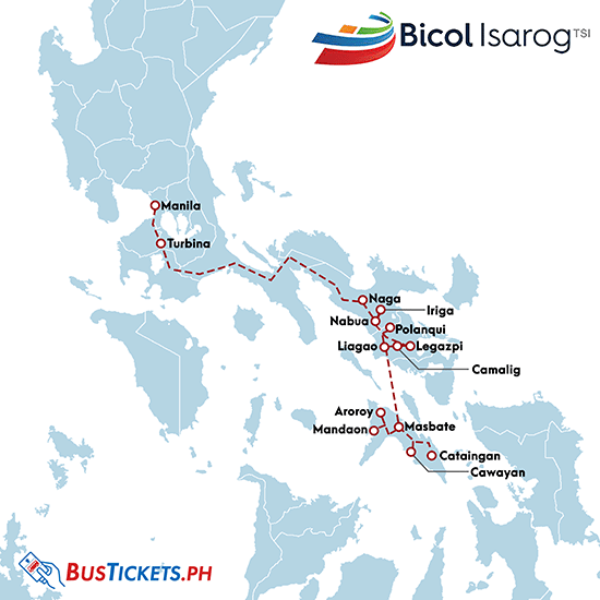 Bicol Isarog Bus Online Booking, Schedules, and Routes